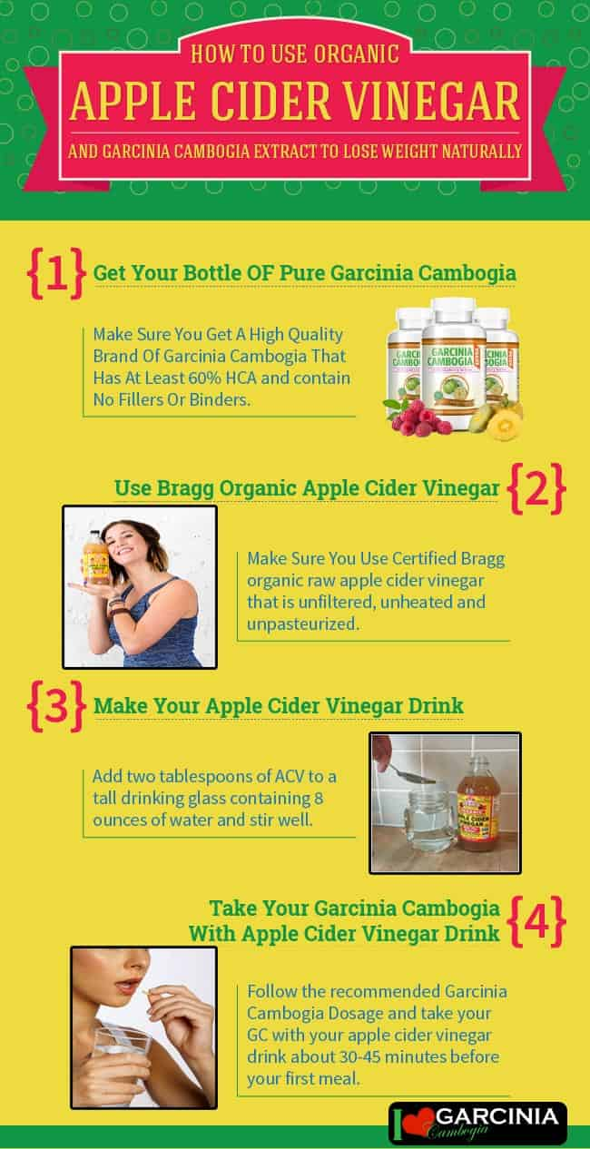 Garcinia Cambogia And Apple Cider Vinegar Infographic