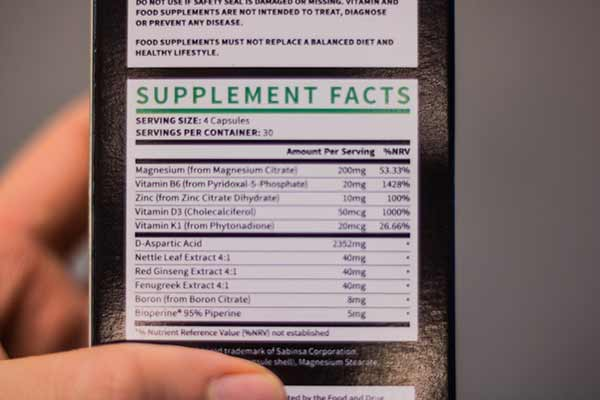 Ingredients In Testogen